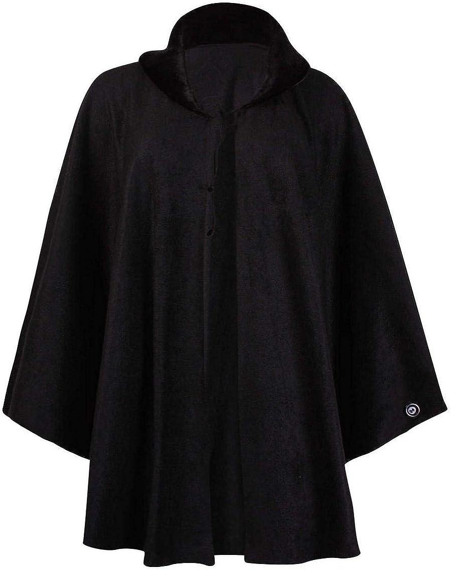 Top Fashion18 Ladies Plus Size Batwing Ladies Fleece Faux Fur Collar Tie Cape One Size Poncho Coat UK Size 16 28