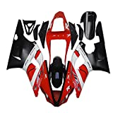 White Black Red Fairing Kit Fit for Yamaha 2000 2001 YZF R1 Injection Mold Bodywork Plastic YHQO09