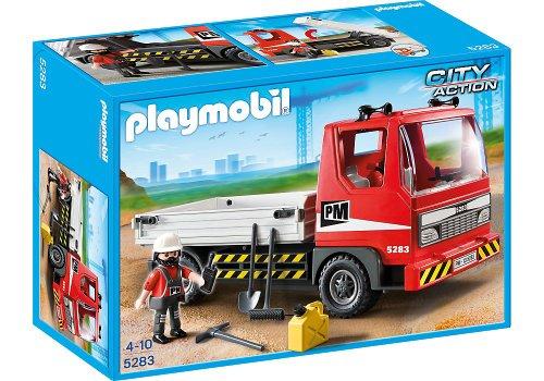 Playmobil-City-Action-Construccin-camin-5283