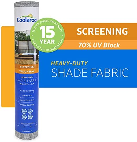 Coolaroo 457907 Shade Fabric with 70 UV Protection 6 x15 , 6 x 15 , Beech
