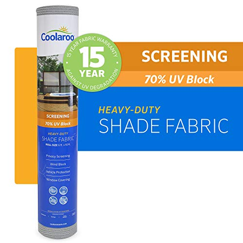 Coolaroo 457907 Screening Block Shade Fabric with 70 UV Protection 6 x15 , 6 x 15 , Beech