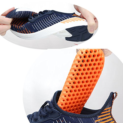 Trekking Adulto Sneakers Sportive Basse Uomo Scarpe Sport Gudeer Tennis Respirabile Unisex Da Ginnastica Shoes Outdoor 1709arancione Corsa Fitness Donna Mesh Running 4X4gwqH