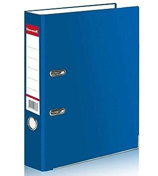 Archivadores con palanca en arco 1 5 o 10 A4 Matt, grande 75 mm., material de metal para oficina, almacenamiento de documentos, color azul: Amazon.es: ...