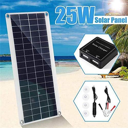 HIGHKAS Polykristallines 25-W-5-V-Solarmodul, netzunabhängige PV-Stromversorgung zum Laden von Batterien, Boot, Wohnwagen, Wohnmobil