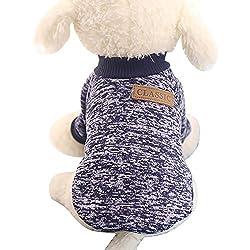 Clearance Sale! Pet Sweater Cinsanong Winter Warm Classic Dog Sweater Fashion Puppy Fleece Clothes