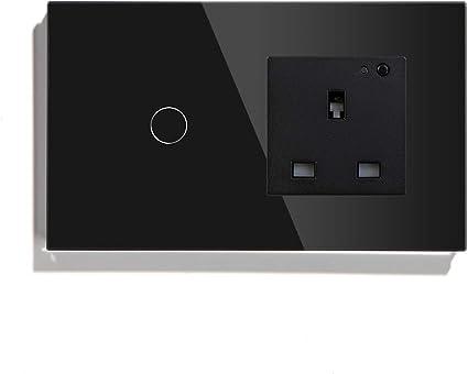 Interrupteur de Lumière Verre Ecran Tactile Prise Interrupteur en Alternance