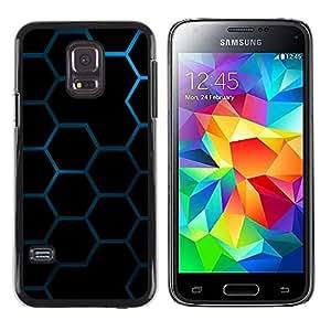 Shell-Star Arte & diseño plástico duro Fundas Cover Cubre Hard Case Cover para Samsung Galaxy S5 Mini / Galaxy S5 Mini Duos / SM-G800 !!!NOT S5 REGULAR! ( Hexagon Honeycomb Pattern )