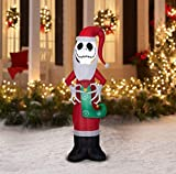Disney Jack Skellington Santa Inflatable Yard Decoration