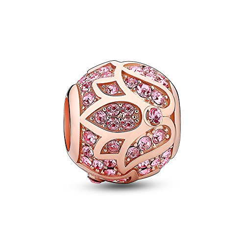Glamulet Jewelry Women's 925 Sterling Silver Rose Gold Lotus Charm Charm Fits Pandora Bracelet (Build A Bear Small Monkey compare prices)
