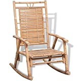 vidaXL Rocking Chair Bamboo Indoor Living Room Outdoor Furniture UV Weather Resistant