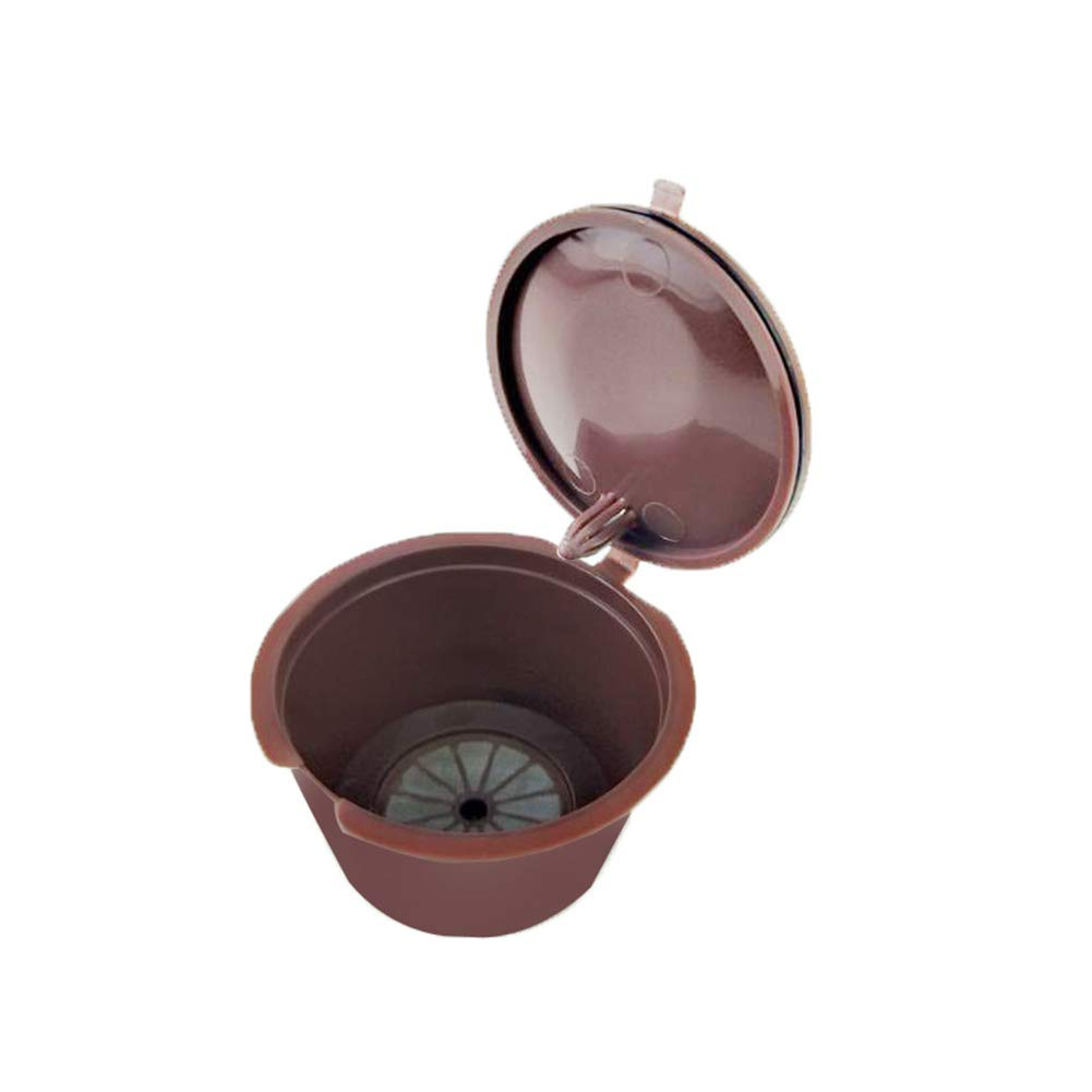 Yiwa 再利用可能コーヒーカプセルカップフィルター 4個 / 1個 ドルチェ グスト用 詰め替え可能 ブリューワーズ ネスカフェ llx-home-0928-E08E662CD3  1個 B07HRK4W3B
