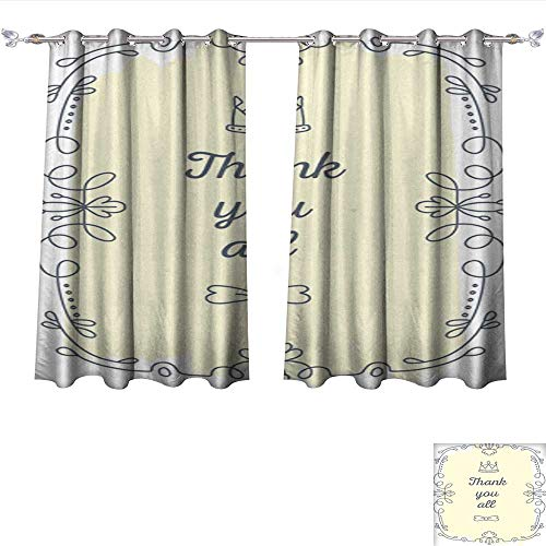DragonBui Window Curtain Fabric Vector Illustration of Black lace Frame with inscription1 Blackout Window Curtain Panel W72 x (Raven Fabric Black Frame)