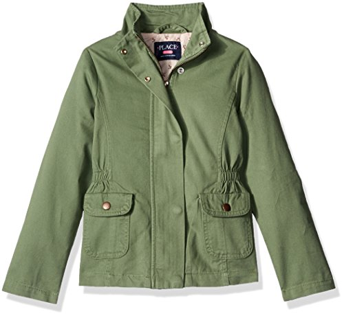 The Children's Place Big Girls Utility Jacket, Truly Olive, Medium/7/8