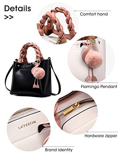 La'festin619523 Mujer Bucket Negro Para Bolso Style Flamingo rfXq1r