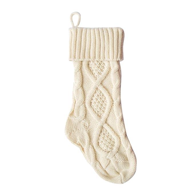 Calcetines de navidad de punto Adornos Medias de navidad Decoración de la chimenea Bolsa de regalo