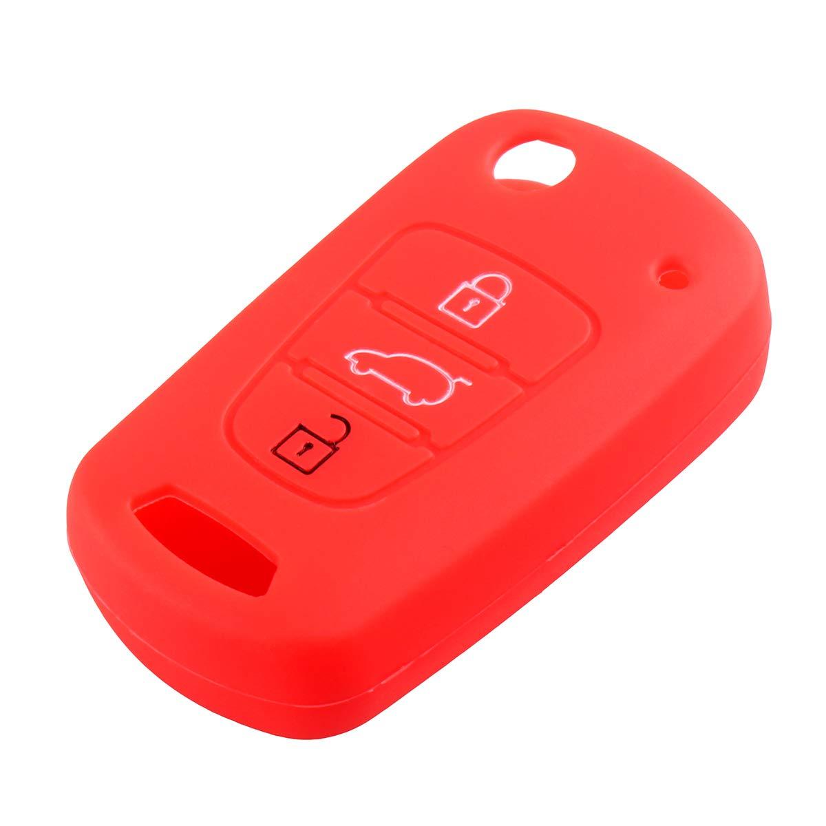 3 Botón Flip Llavero Carcasa de silicona para Hyundai i20 ...