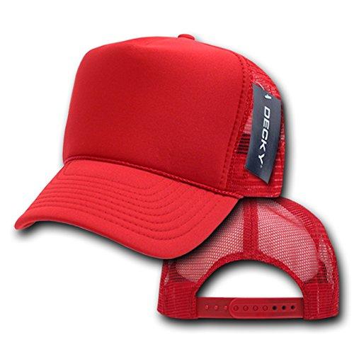 Decky Trucker Hats: DECKY Solid Trucker Cap, Red