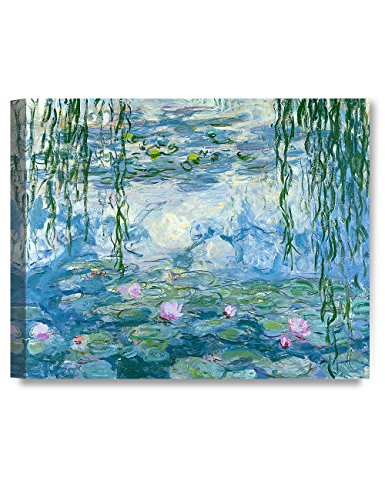 (DECORARTS - Water Lilies 1916-1919, Claude Monet Art Reproduction. Giclee Canvas Prints Wall Art for Home Decor 30x24 x1.5)