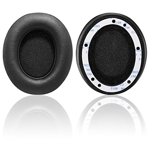 Replacement Leatherette Ear Pads (Bingle Replacement Ear pads for Beats Studio / Studio2.0 - Protein Leather Memory Foam Ear Cushion Pads Earpads Ear Cups for Beats Studio 2.0 Wired / Studio 2.0 Wireless B0500 / B0501 (1Pair Black ))
