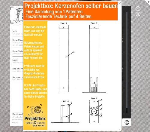 Kerzenofen selber bauen: Deine Projektbox inkl. 4 Seiten Original-Patente bringt Dich mit Spaß ans Ziel!