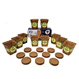 10 Pot Seed Starter Kit With 10 3'' Coconut Coir Garden Pots and 10 Coconut Soil Disks (Windowsill Herb Garden Refill Kit - Seeds Sold Separately)