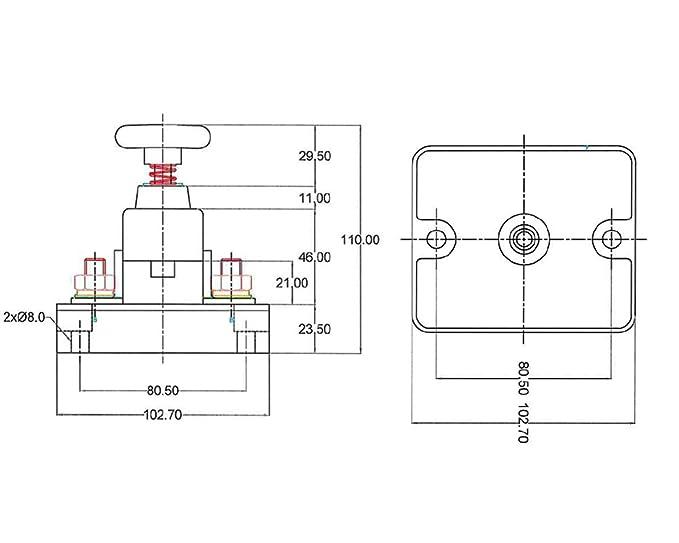 The Drive - 17818 - Batterie-Trennschalter S41 6-24V: Amazon.de: Auto