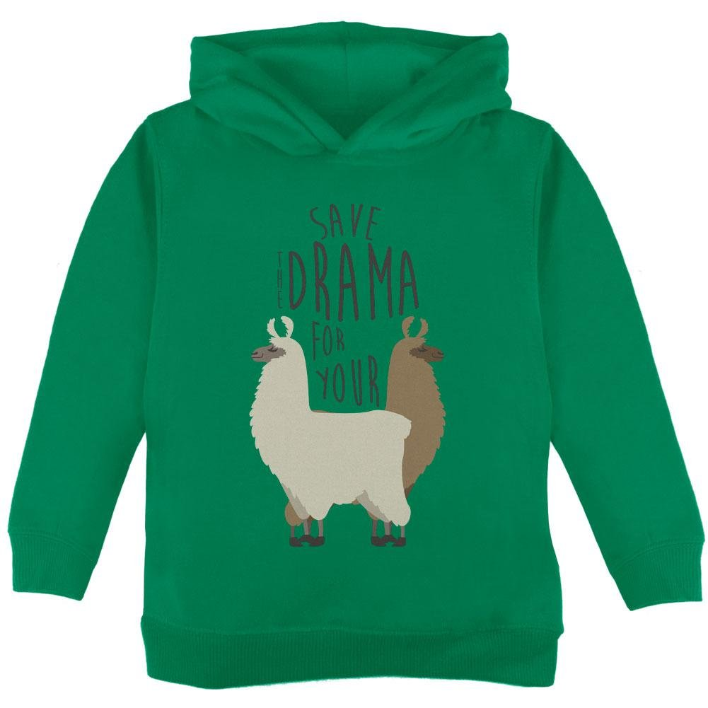 Old Glory Save The Drama For Your Llama Pun Toddler Hoodie