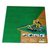 """Green Lego Compatible X-large Baseplate, Construction Base Plates, 50x50 Studs (15""""x15""""), Great for Activity Table or Displaying Construction Toy"""
