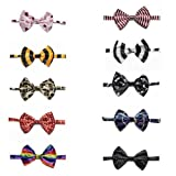 GOGO Pet Bow Tie Collar, Dog Grooming Accessories, 10 PCS Assorted