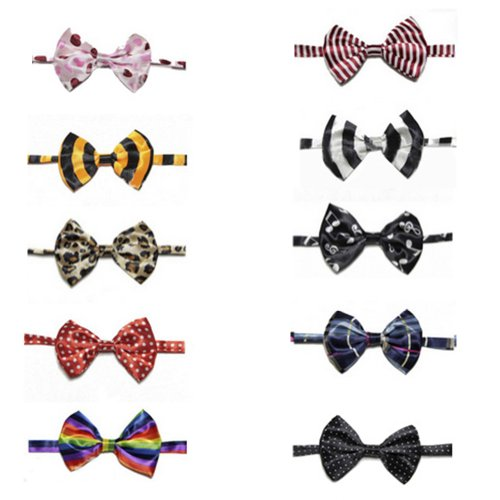 Apparel Assorted - GOGO Pet Bow Tie Collar, Dog Grooming Accessories, 10 PCS Assorted