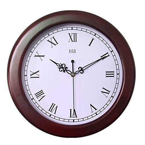 hito-12-inches-silent-non-ticking-wall-clock-w-wood-frame-and-acrylic-front-cover-dark-wood-frame-ro