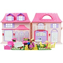 Boley Pretend Play Doll House Toy-21 Piece Collapsible Perfect Childre Toy Children's Toy with Kitchen Accessories, Light and Sound, Dollhouse