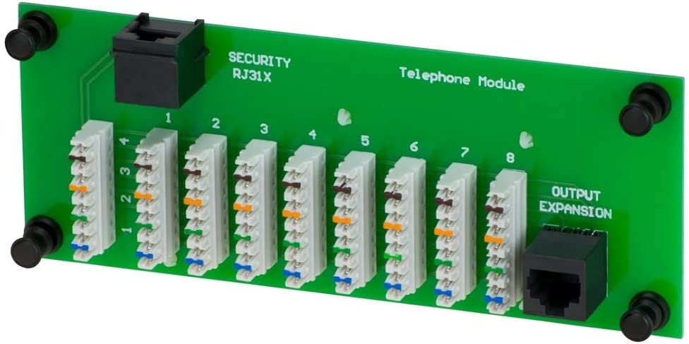 1x8 Telephone Module 4 Phone Lines Fax 110 Punch Down Color Coded RJ31 Security