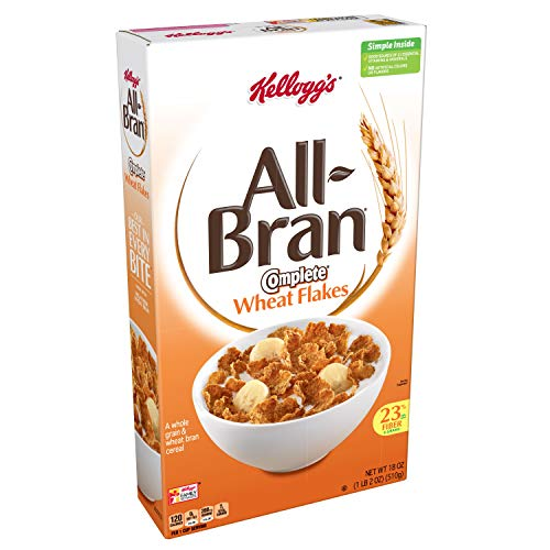 Kellogg's All-Bran Breakfast Cereal, Complete Wheat Flakes, 18 Oz (Pack of 10) (Best Wheat Bran Cereal)