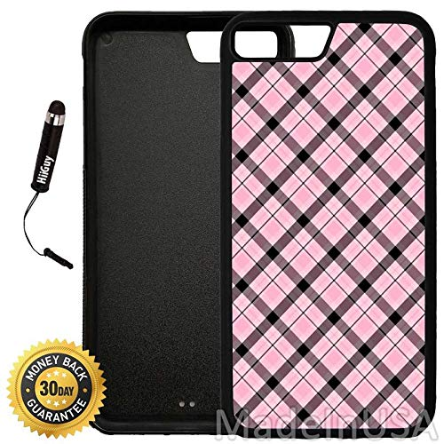 newest 96224 e0f97 Amazon.com: Custom iPhone 8 Plus Case (Pink and Black Plaid Pattern ...