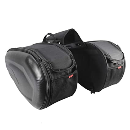 61e2a20860 Hualieli Waterproof Motorbike Saddle Bag Panniers Luggage Box,Long-distance motorcycle  travel large-capacity luggage tail package(Black: Amazon.co.uk: ...