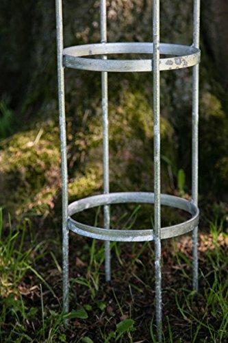 KUHEIGA 3er Set Rankger/üst Rankhilfe 10mm Volleisen Obelisk Blumenhilfe ZINK Verzinkt