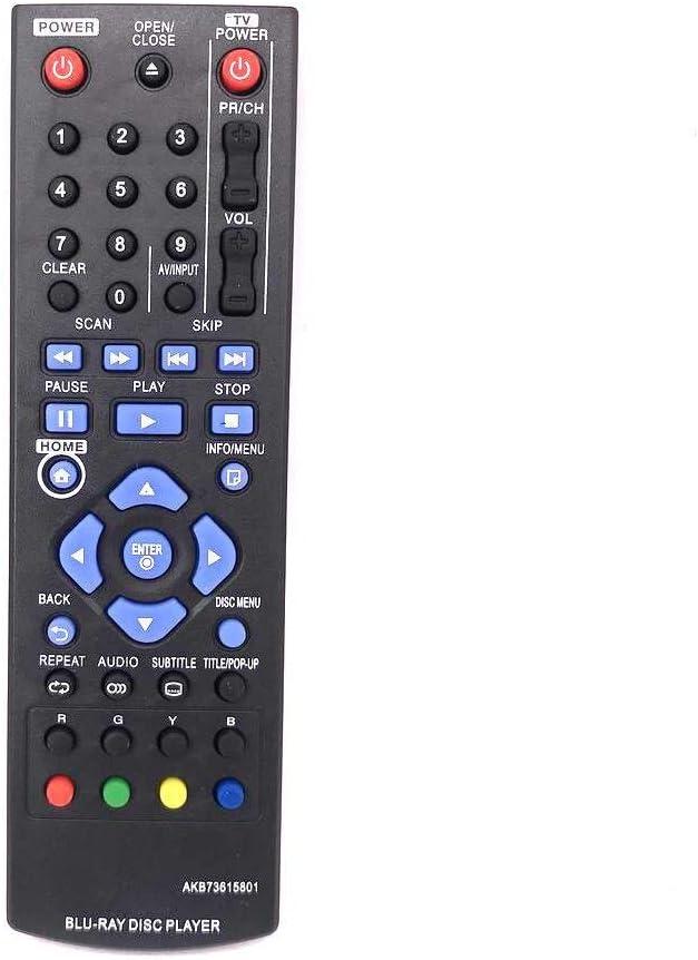 Calvas New Remote Control For LG Blu-Ray DVD Player AKB73615801 BD670 BD570 BP220N BP320 BD660 BD560 BD550