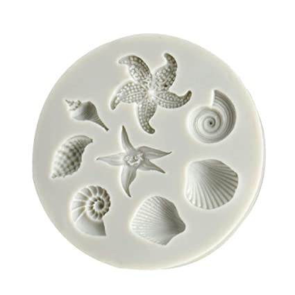 Amazon Com Cmrtew Diy Silicone Chocolate Mold Sea Creatures Conch