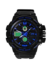 Changeshopping(TM) Multi Function Military S-Shock Sports Watch LED Analog Digital Waterproof Alarm (blue)