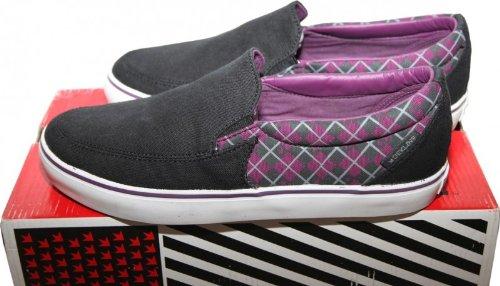 Dekline Skateboard Schuhe / Slip Ons / Slipper Captain Black/Purple - Slip On Shoes