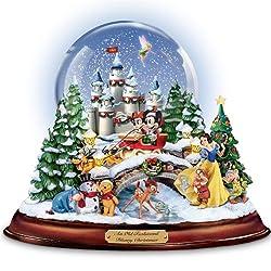 Disney figures Snow Globe 'Musical Snowglobe Showcasing 13...