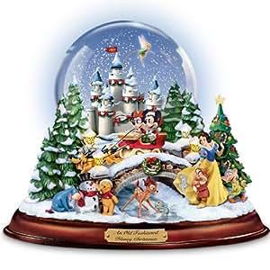 Amazon Com Disney Figures Snow Globe Musical Snowglobe