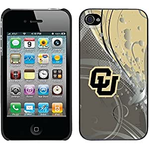 iphone covers University Of Colorado Swirl design on Black iPhone 6 plus / 4 Thinshield Snap-On Case WANGJING JINDA