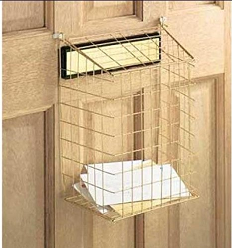 """Select Hardware Top Opening Post Letterbox Letter Cage with Brass Finish 