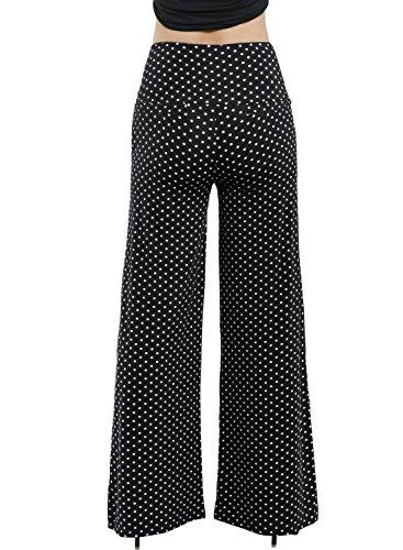 Arrisol Women's Stretchy Wide Leg Palazzo Lounge Pants (XL, D-Polka Dot) by Arrisol (Image #3)