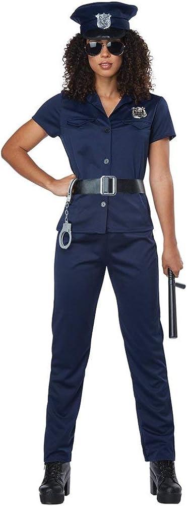 California Costumes Women's Police Woman - Adult Costume Adult Costume, Navy, Medium