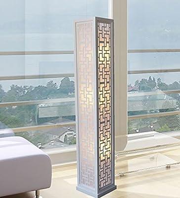 New Plain White Handmade Modern Contemporary Wooden Floor Lamp Zk006l Art Decor Design Lighting for Living room, Family Room, Bedroom (LED bulb prefered)