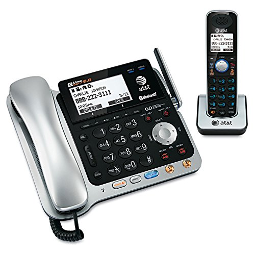 AT&T TL86109 TL86009 2 Cordless Handsets Chargers 1.9GHz Corded Cordless Phone Combo