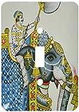 3dRose lsp_188251_1 Elephant Mural, Mahendra Prakash Hotel, Udaipur, Rajasthan, India Light Switch Cover